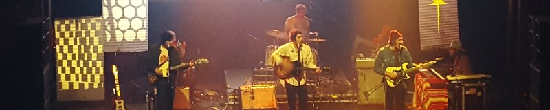 Image of the 5 band members of Allah Las playing on stage at Webster Hall in NY
