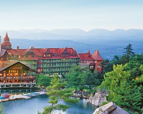 Image of Mohonk Mountain House on the Hill in Upstate New York as a Romantic Getaway