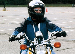 Image of Man on Motorcycle at New Jersey Rider Education Program