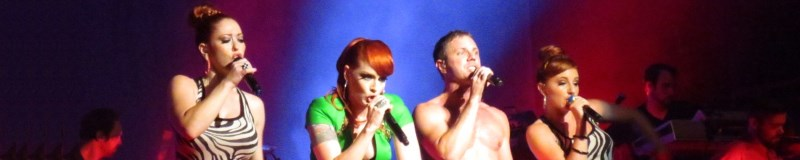Scissor Sisters on stage performing a concery in Pennsylvania