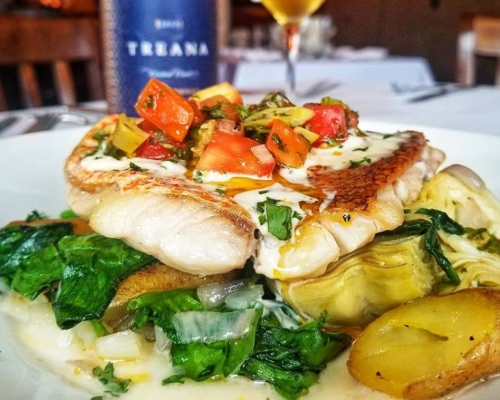 Image of Fish Dinner at Witherspoon Grill in Princeton NJ